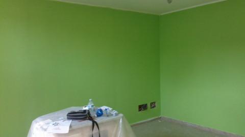 verde, stanza verde, pittura verde